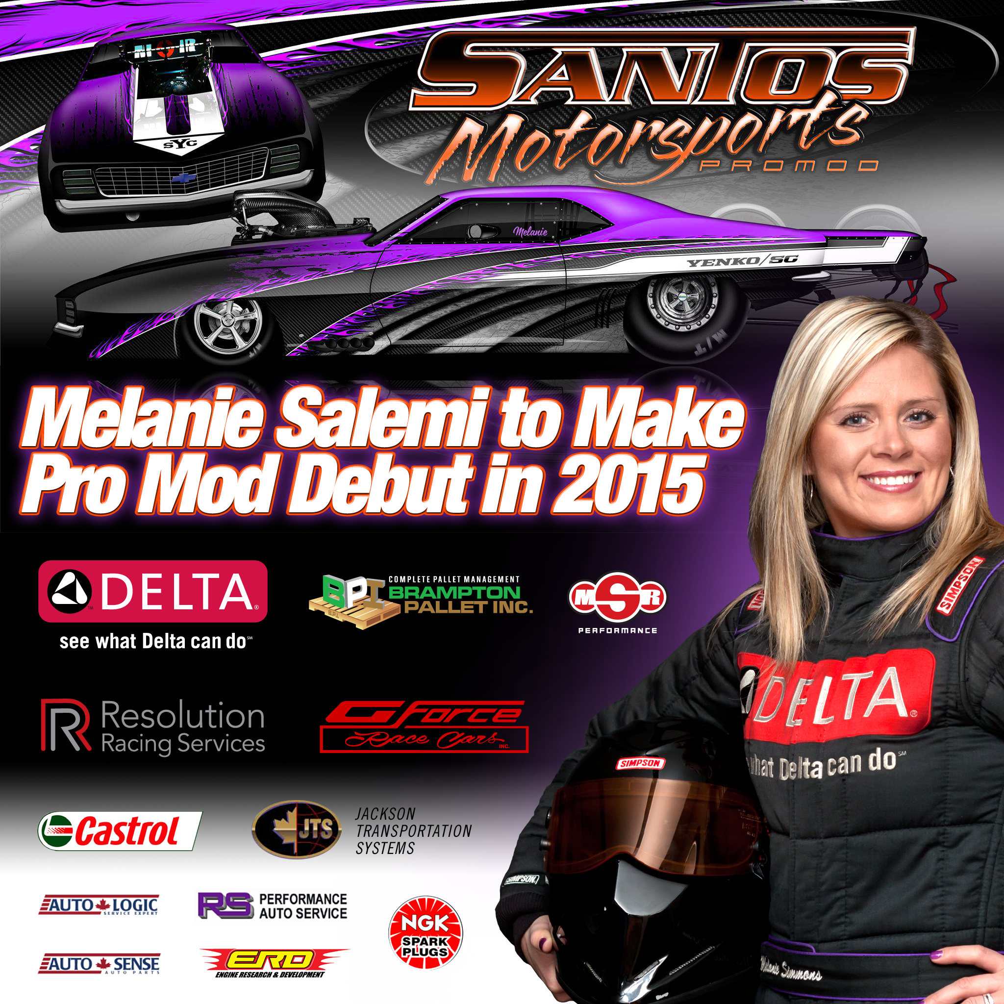 Melanie Salemi To Make Pro Mod Debut In 2015 Resolution Racing Services